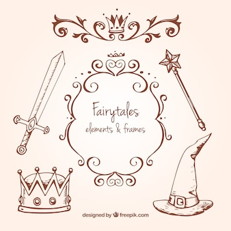 Sketches fairy tales accessories