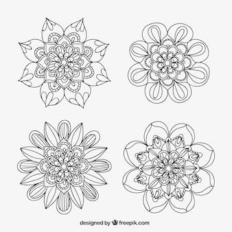 꽃 장식 스케치