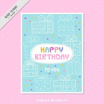 Sketches gifts birthday card