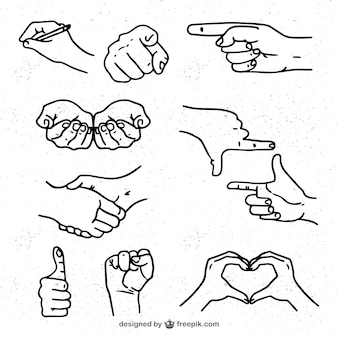 Sketches of hands pack
