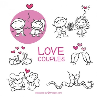 Sketches love couples pack