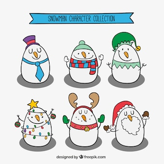 Sketches lovely snowman collection