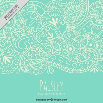 Sketches nature paisley pattern