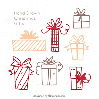 Sketches of christmas gifts