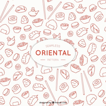 Sketches oriental menu pattern