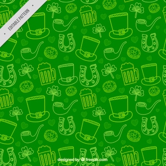 Sketches pattern of saint patricks day