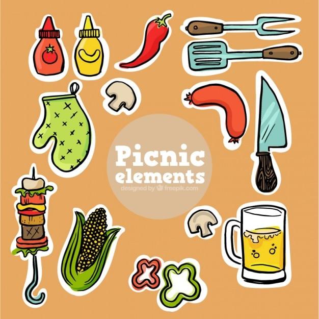 スケッチピクニック食品のラベル