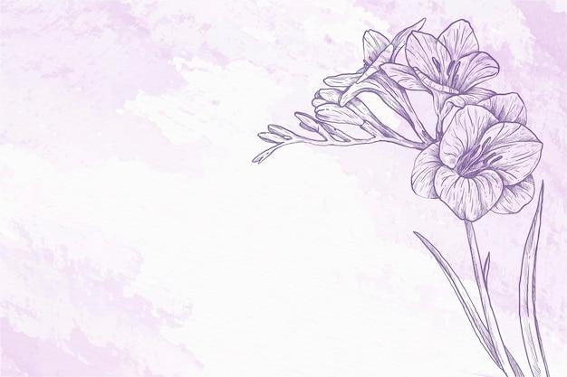 Sketches powder pastel hand drawn background