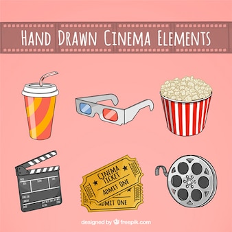 Sketches reel and cine accessories