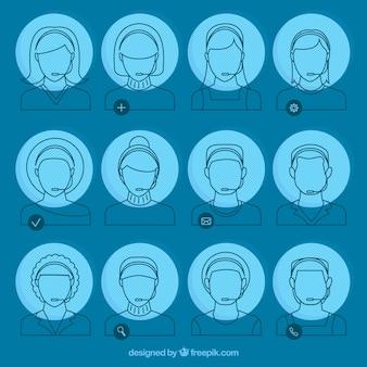 Sketches teleoperator avatars