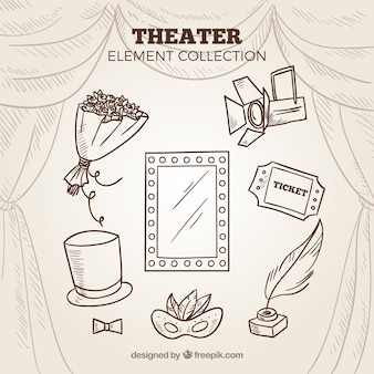 Sketches of theater elements pack