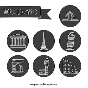 Sketches landsmarks viaggio
