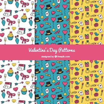 Sketches valentine elements pattern pack