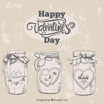 Sketches valentine jars