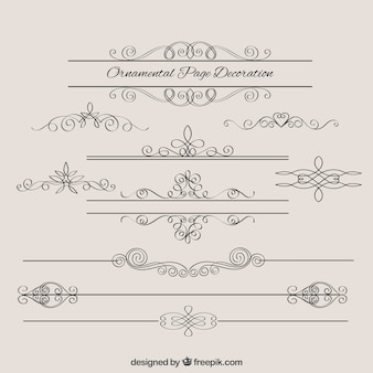 Sketches vintage borders decoration