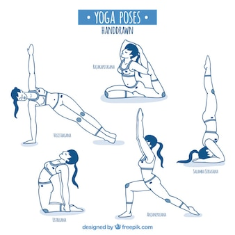 Эскизы позы йоги