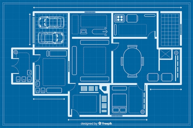 Sketching of a house blueprint
