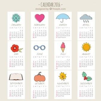Sketchy 2016 calendar