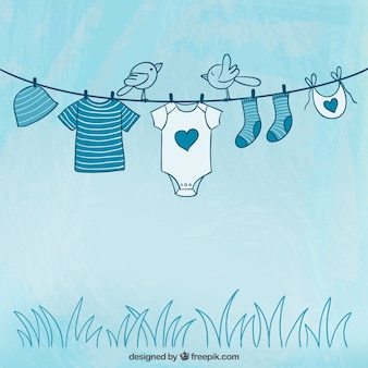 Sketchy baby clothing