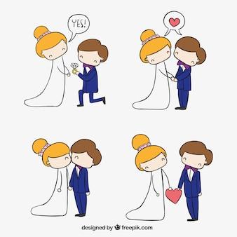Sketchy bride and groom