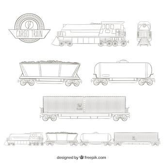 Sketchy treno merci