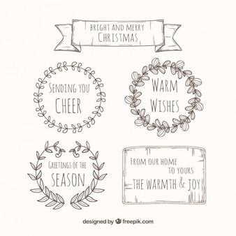 스케치 christma 화환 컬렉션