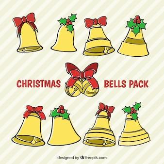 Эскизные рождественские колокола упаковка