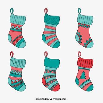 Sketchy christmas socks