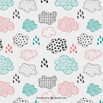 Sketchy clouds pattern