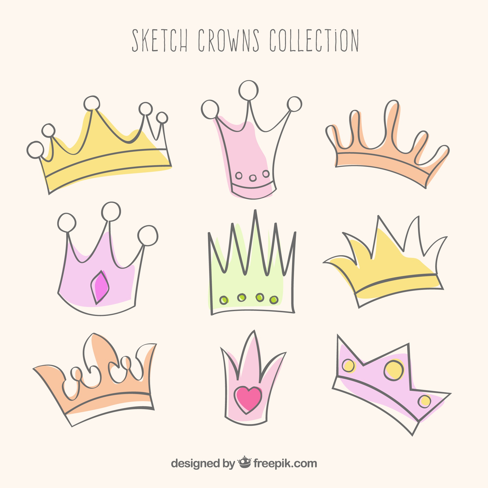 Sketchy crowns collection