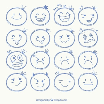 Sketchy face icons