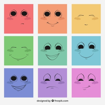Sketchy faces Free Vector