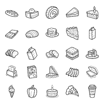 Sketchy fast food icons pack
