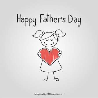 Sketchy fathers day card Premium Vector