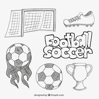 Sketchy football elements