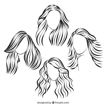 Sketchy hairstyles