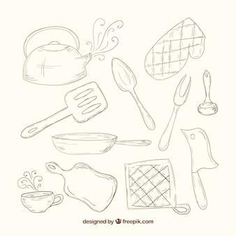 Эскизные кухонная утварь