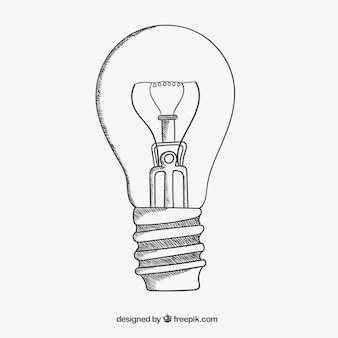 Sketchy light bulb