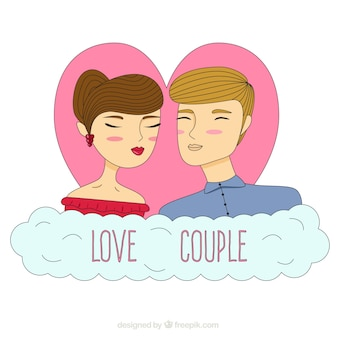Sketchy coppie di amore