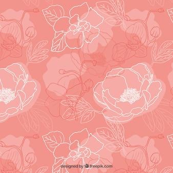 Sketchy peonies pattern