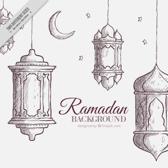Sketchy ramadan background