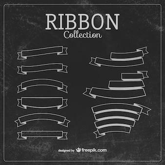 Sketchy ribbons in blackboard style