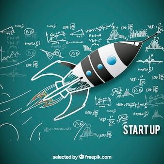 Sketchy rocket for starup