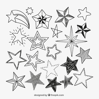 Sketchy star icons