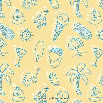 스케치 여름 패턴