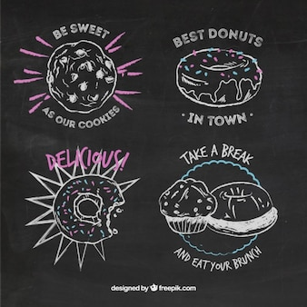 Sketchy sweets in blackboard style