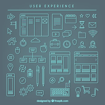 Sketchy user experience elements collection