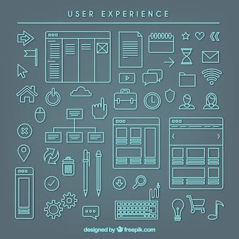 Utente sketchy elementi di esperienza raccolta