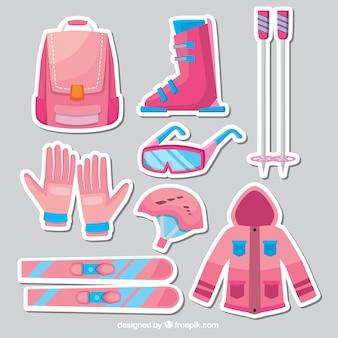 Ski element stickers set