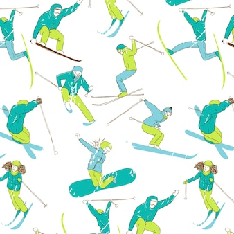 Лыжный рисунок